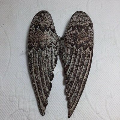 NEW~Cast Iron ANGEL WINGS Wall Hanging Decor FRENCH Country Christian