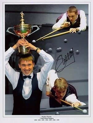 Snooker legend Stephen Hendry signed print with COA