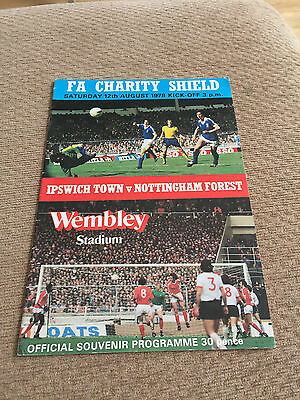 1978 FA Charity Shield, Ipswich Town V Nottingham Forest