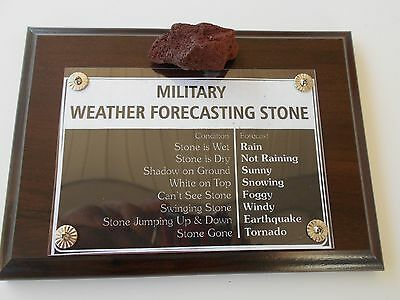Military Weather Forcasting Stone   -    Wall Plaque Or Desk Top