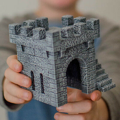 Medieval or fantasy castle tower 28mm scale Wargames terrain/scenery (complete)
