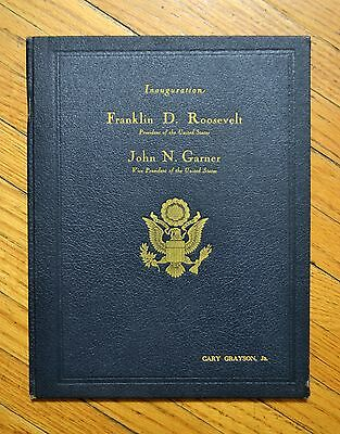1937 FDR Roosevelt Deluxe Inaugural Program #22/150 SIGNED by chairman!
