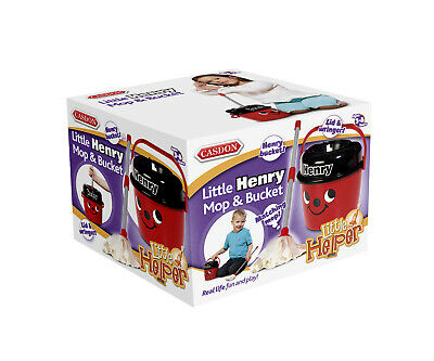 New Casdon Kids Toy Henry Mop And Bucket