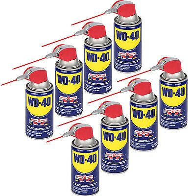8 Cans 8 OZ Smart Straw Spray WD-40 Lubricants & Smoothing Joint Rust