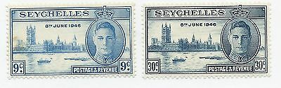 SEYCHELLES Sc# 149-150  KGVI PEACE ISSUE MLH  8th JUNE 1946