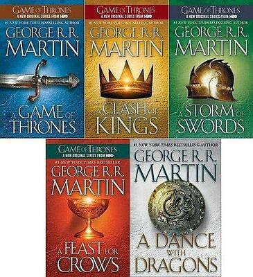 Game of Thrones Novel Book Series Collection 1 - 5 eBooks Mobi Format