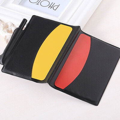 Football Referee Red/Yellow Cards Wallet Pencil Notebook Set Sport equipment