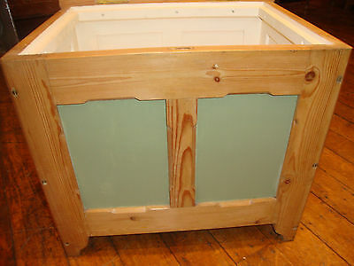 Antique pine and painted box seat
