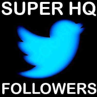 1000 Instant Verified USA Twitter Follower ( HQ, 100% Real Looking-Followers )