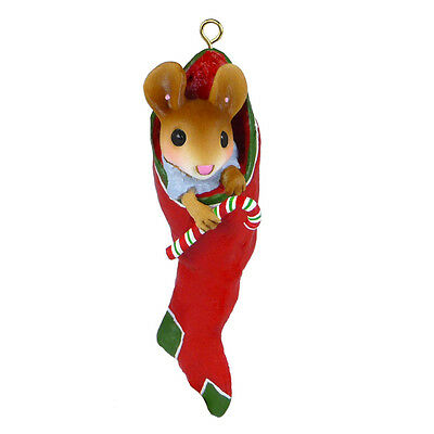 Retired Wee Forest Folk CO-11 - Stocking Stuffer Miniature Christmas Ornament