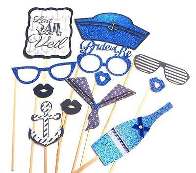 Photo Booth Props - Last Sail Before the Veil Bachelorette Wedding Party x 12PC