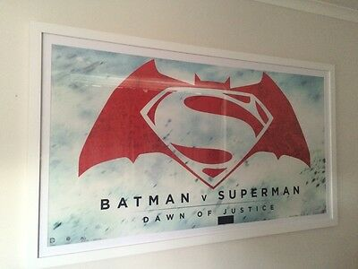 Batman vs superman  UK London premiere rare banner