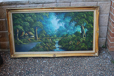Large Vintage   Painting  In Frame.