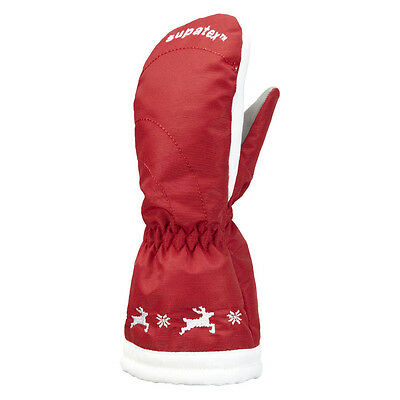 Manbi waterproof kids mittens. Waterproof, thinsulate kids ski mittens. Red