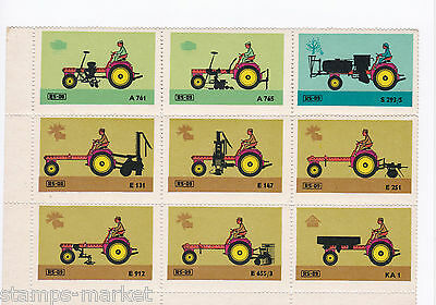 Tractor Attachments  Full Mint  Stamps Sheet. Ref 1198