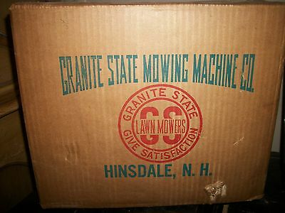 "Vintage GRANITE STATE MOWING MACHINE ""LAWN EDGER"" HINSDALE N.H.NEW IN BOX!!"