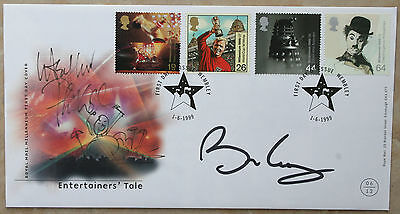 BRIAN MAY & PHIL COLLINS signed FDC - with Phil Collins self doodle