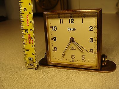 8 day 7 jewels Swiza desk clock