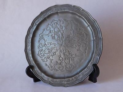 FINE PURE PEWTER CARD TRAY By LES POTSTAINIERS HUTOIS BELGIAN