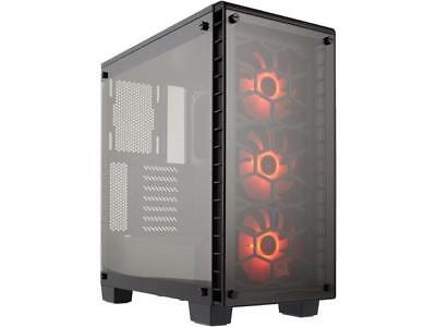 Corsair Tempered Glass Crystal Series 460X RGB CC-9011101-WW Black ATX Mid Tower