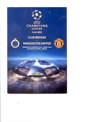 CLUB BRUGGE v MANCHESTER UNITED (CHAMPIONS LEAGUE)  2015/16