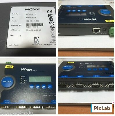 Moxa NPORT 5410 DEVICE SERVER 12-48VDC  4-PORT RS232
