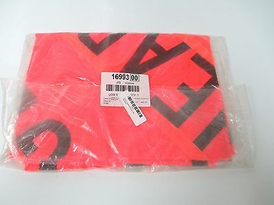 """48"""" Mesh Road Sign  Brand New """" Flagger Ahead """"  Safety Flag Fluorescent"""