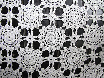Antique French  crochet bed cover hand-made lace c1910