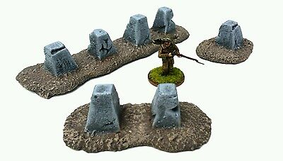 Wargames Terrain 28mm resin Tank Traps Obstacles . Bolt Action Warhammer 40k