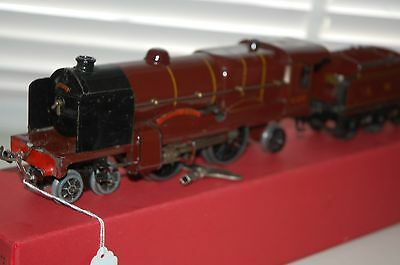 HORNBY SERIES O GAUGE No 3C ROYAL SCOT LOCO WITH TENDER WITH BOXED ( REPRO )