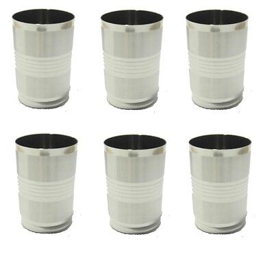 Set Of 6 9.7cm Stainless Steel Tumbler Glass Drink Water Cup Camping