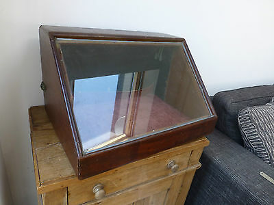 Victorian Maghogany Table Top Shop Display Cabinet