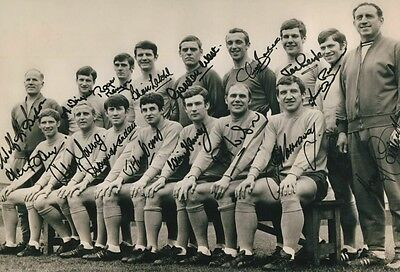 EVERTON 1968 FA CUP FINAL TEAM ALAN BALL FULL SIGNED 12x8 INCH LAB PRINTED PHOTO
