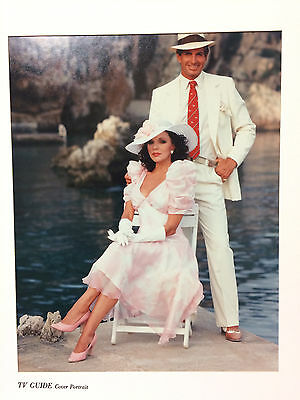 """JOAN COLLINS - GEORGE HAMILTON - Rare Orig 11"""" x 14""""  Photo Mounted By TV Guide"""