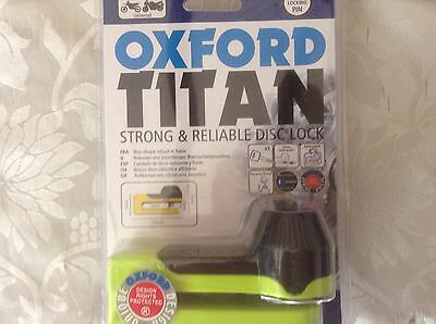 Oxford Titan strong & reliable disc lock with pouch