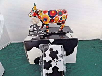 "Cow Parade ""got Spots?"" Mod Cow Artist With Spots #7343 2005 Retired, Mib"