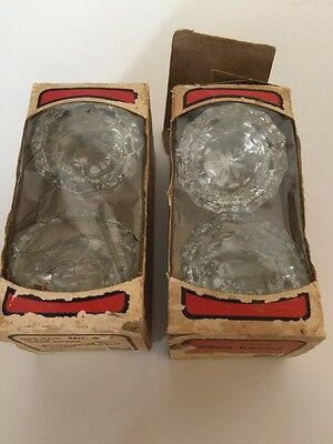 Vintage Taylor Lock Co Glass Door Knobs Doorknobs - Two Pair #400 Made in USA