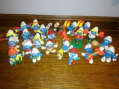 Smurfs collectable figurines job lot 1978-1996