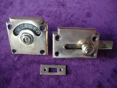 Super rose brass vacant engaged toilet lock