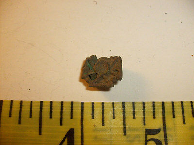 Antique Medieval Military Button Small