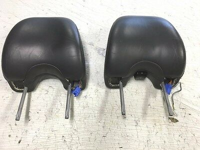 2005 Volvo XC90 OEM Right & Left Leather Head Rest w/built-in LCD Monitor Set