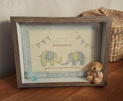 Born in 2019 / 2018 Gorgeous Personalised Keepsake Frame New Baby or Christening