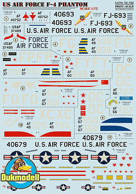 Print Scale F-4 Phantom II - US Air Force 1:72  #72-192