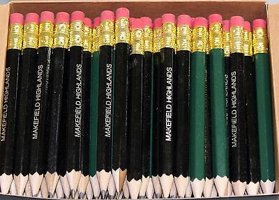 288 Golf Half Pencils with Eraser - Personalized Overruns - Hexagon