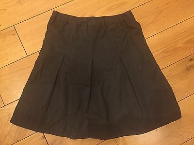 Girls Grey School Skirt By Asda George Size 6 to 7 years
