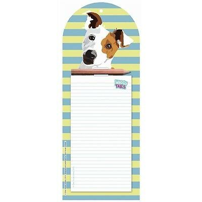Jack Russell Dog Magnetic Memo Pad Shopping Pad Dog Lover Gift FREE P&P
