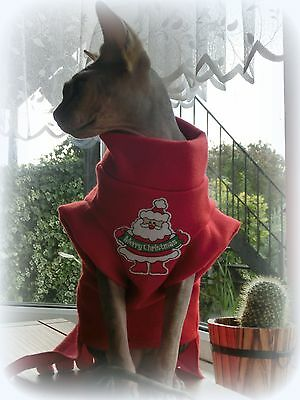 CHRISTMAS clothes for a Sphynx cat winter HOTSPHYNX naked cat, pet clothes Santa