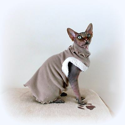 sherpa Comfy kitten cat top for a Sphynx, cat clothes for Katze, cat clothes