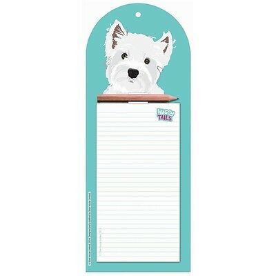 West Highland White Terrier Magnetic Memo Pad Shopping Pad Westie Dog Lover Gift