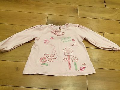 Girls Long Sleeved Top From George 12 - 18 Months